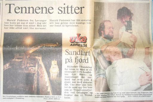 Eldre mann fra Levanger fikk tannimplantater hos Tannlege Alstad i 1988.